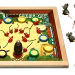 Spielplan und Spielmaterialien, sowie Mäuse