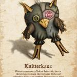 Postkarte: Knitterkauz