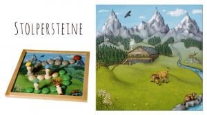"""""""Stolpersteine"""", ein Brettspiel von Peter Schackert, erschienen 2015 bei """"Oberschwäbische Magnetspiele"""""""